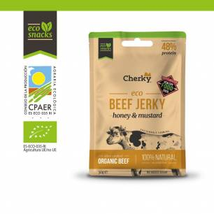 Cherky Foods, Beef Jerky honey & mustard, 30 g