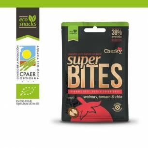 M101 Cherky Foods, Super Bites Organic Beef Walnuts Tomato & Chia, 30 g