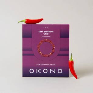 DF205 Okono, Dark Chocolate Chilli, 50 g