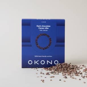 DF204 Okono, Dark Chocolate Cacao nibs, 50 g