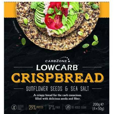 Low carb Crispbread 200 g (4 x 50 g)