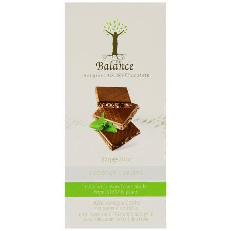 Tablette chocolat au lait / noix de coco & riz soufflé - Balance 85 g