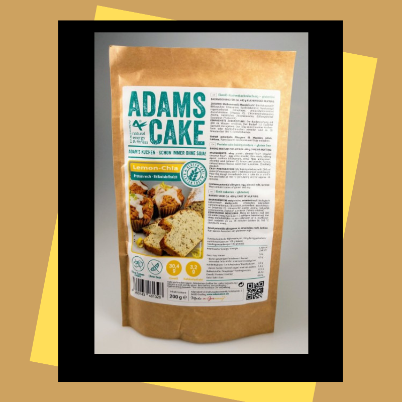 Adam's cake Lemon chia, 200 g