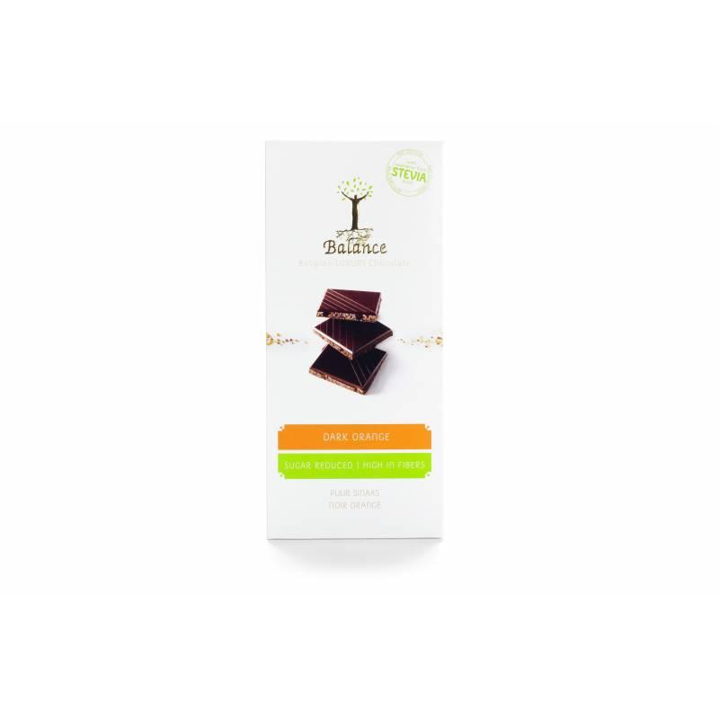 Chocolat stévia Noir / Orange Balance 85 g