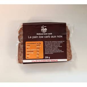A002 Délices Low Carb Pain low carb aux noix en tranches 250 g