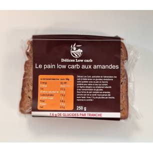 A003 Délices Low Carb Pain low carb aux amandes en tranches 250 g